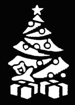 Stencil Xmas Tree Brass