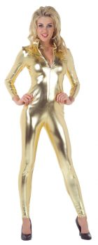 Women's Stretch Jumpsuit - Gold - Adult Small