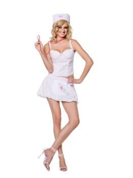 4-Piece Candy Striper Costume - Adult Large