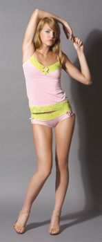 Lace Low Rise Hipster - Pink - Adult Small