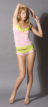 Lace Trimmed Cami - Pink - Adult Small