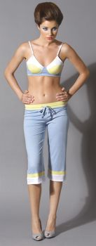 Cropped Pants Dove - Blue - Adult Small