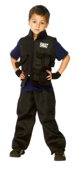SWAT Officer Utility Vest Costume - Child Large