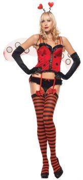 Women's Sexy Sweetheart Bug Costume - Adult X-Small