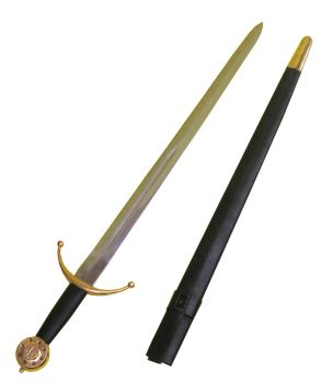 Sword Medieval & Scabbard - Gold