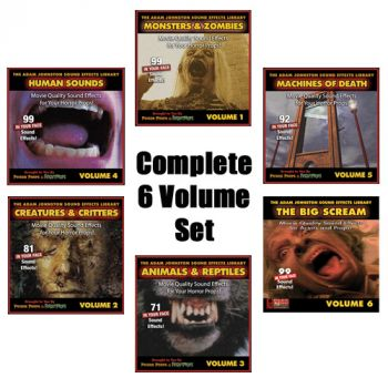 The Adam Johnston Sound Effects Library (All 6 Volumes)