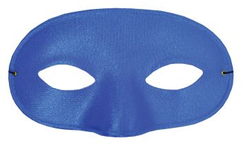Satin Half Mask - Royal Blue