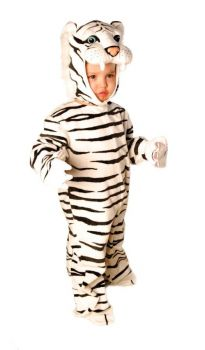 Plush White Tiger Costume - White - Toddler (18 - 24M)