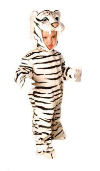 Tiger White Plush 2t 4toddler