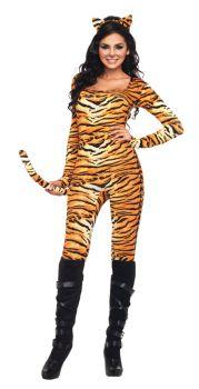 Women's Wild Tigress Catsuit - Adult M/L