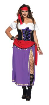 Women's Plus Size Traveling Gypsy Costume - Adult 1X/2X