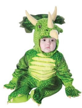 Green Triceratops Costume - Toddler Large (2 - 4T)