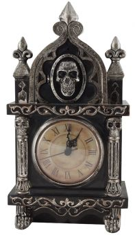 Animated Haunted Raven Clock