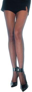 Nylon Fishnet Pantyhose - Black - Adult Plus Size