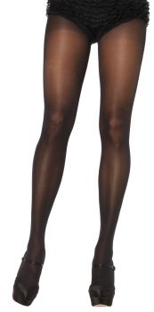 Opaque Sheer To Waist Tights - Black - Adult Plus Size