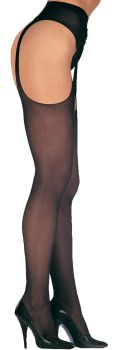 Sheer Suspender Pantyhose - Adult Plus Size