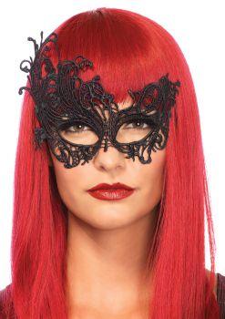 Women's Fantasy Venetian Mask - Black