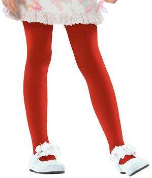 Child Opaque Tights - Red - Child X-Large