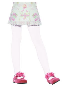 Child Opaque Tights - White - Child X-Large