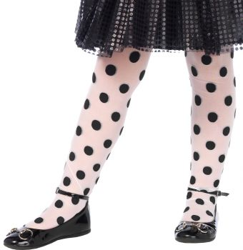 Polka Dot Tights - Child Large