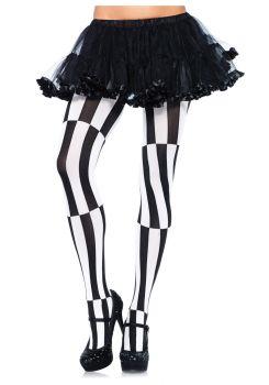 Striped Optical Illusion Pantyhose - Adult OSFM