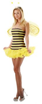 Women's Sexy Bee Costume - Adult M/L