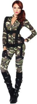 Women's Pretty Paratrooper Costume - Adult Small