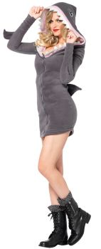 Women's Cozy Shark Costume - Adult Small