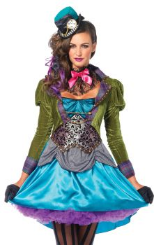 Women's Deluxe Mad Hatter Costume - Adult Small