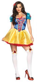 Women's Fairytale Snow White Costume - Adult M/L