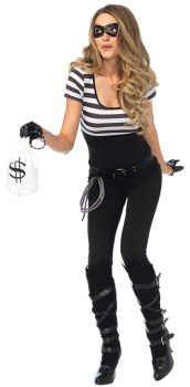 Women's Bank Robbin Bandit Costume - Adult Small