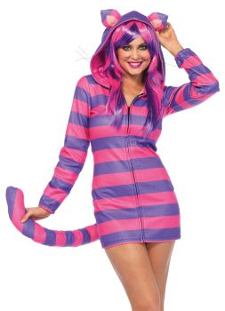 Women's Cozy Cheshire Cat Cozy Costume - Adult Small