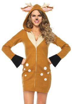 Women's Plus Size Cozy Fawn Costume - Adult 1X/2X
