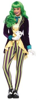 Women's Wicked Trickster Joker Costume - Adult X-Small
