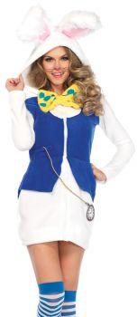 Women's Cozy White Rabbit Costume - Adult Small