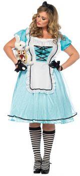 Women's Plus Size Tea Time Alice Costume - Adult 1X/2X