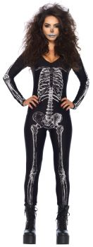 Women's X-Ray Skeleton Bodysuit - Adult Small