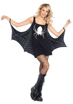 Women's Jersey Spiderweb Dress - Adult S/M
