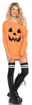Women's Pumpkin Jersey Dress - Adult S/M