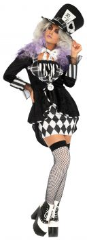 Women's Wonderland Mad Hatter Costume - Adult S/M