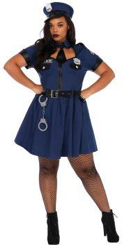Women's Plus Size Flirty Cop Costume - Adult 1X/2X