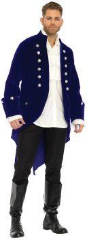 Men's Long Velvet Coat - Adult Large