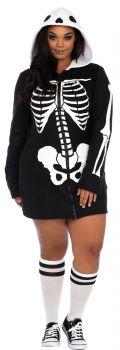 Women's Plus Size Cozy Skeleton Dress - Adult 1X/2X