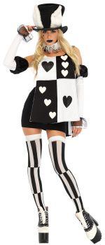 Women's Wonderland White Rabbit Costume - Adult Small