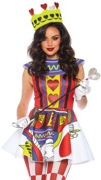 Women's Card Queen Costume - Adult Small