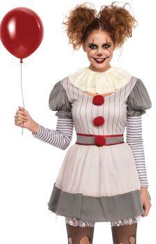 Women's Creepy Clown Costume - Adult S/M