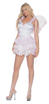 Pixie With Wings Large Pink - Adult Medium