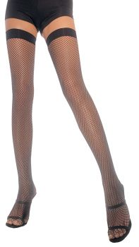 Nylon Fishnet Stockings - Black