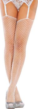 Lycra Industrial Net Stockings - White