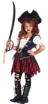 Caribbean Pirate Costume - Toddler (3 - 4T)